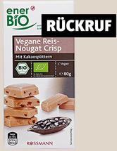 ROSSMANN ruft enerBiO Vegane Reis-Nougat Crisp zurück