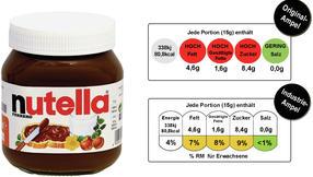 Nutella ist nicht gesund, das weiß jedes Kind. Oder nicht? Keine einzige Ampel zeigt bei der neuen Nährwert-Ampel der Lebensmittelindustrie auf Rot – dabei besteht das Produkt zu mehr als der Hälfte aus Zucker und zu knapp einem Drittel aus Fett. Der Trick: Während die Original-Ampel der britischen Lebensmittelbehörde FSA die Umschlagswerte per 100 Gramm berechnet, orientiert sich die Industrie-Ampel an kleinen Portionsgrößen. Erst wenn ein Aufstrich wie Nutella mehr als 90 Prozent Zucker enthält, würde die Industrie-Ampel von Gelb auf Rot umschlagen!
