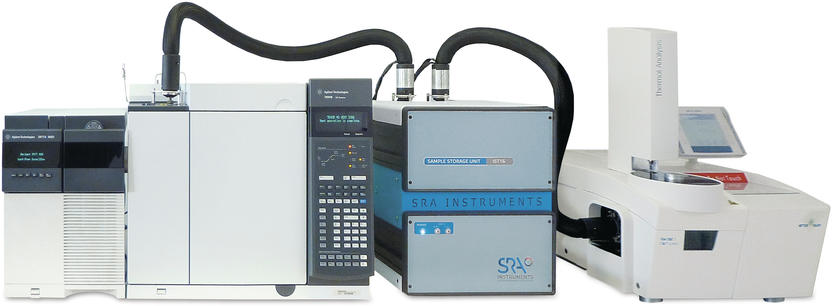 Thermograviemetrie gekoppelt mit programmierbarer Emmisionsgasanalyse