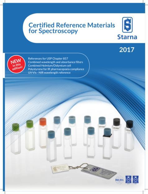 Risiko minimieren! Zertifizierte Referenzmaterialien für Fluorimetrie, NIR- und UV-Vis-Spektroskopie